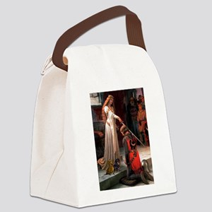 Princess & Doxie Pair Canvas Lunch Bag